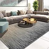 Aishankra B22 Simple Europeo Alfombra Cabecera área Tapete Apto para Sala De Estar Dormitorio Oficina Casa Club Series De TV Hotel Mat Decoraciones,6'6''X9'2''/200X280CM