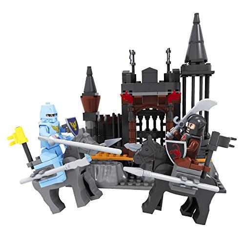 Ausini - Juego de construcción Castillo & 2 caballeros - 220 piezas (ColorBaby 44345)