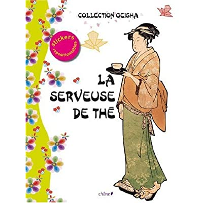 La serveuse de thé : Stickers repositionnables
