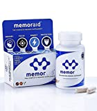 Memoraid® - The Complete Memory Supplement | Enhance Your Memory, Focus and Energy Levels Whilst Protecting Brain Health | #First and Only Memory Supplement Formulated by Pharmacists. #Caffeine-Free #Vegetarian #15 Well Researched Ingredients Salvia Officinalis Extract, L-Tyrosine, Blueberry Extract, Ginkgo Biloba Extract, Korean Ginseng Extract, Selenium, Vitamin D3, Vitamin E and B's | 60 Capsules | 1 Month Supply