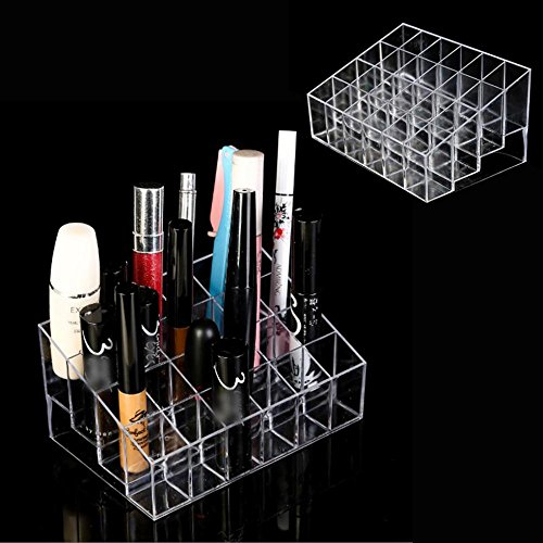 Lifestyle-You™ 24 Compartment Luxurius Clear Acrylic Makeup Organiser Lipstick Holder Case