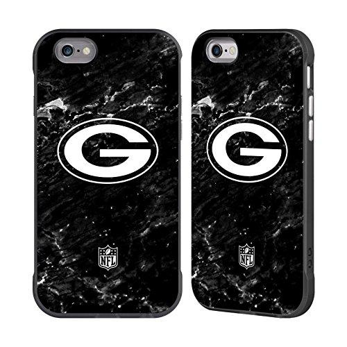 Bay Schnitt (Offizielle NFL Marmor 2017/18 Green Bay Packers Schwarz Fender Hülle für Apple iPhone 6 / iPhone 6s)