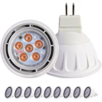 SinceLight Lampadine Riflettori LED Gu5.3 MR16 12V AC/DC 7W,Pari a Lampadine Alogena da 60W,630LM,Luce Bianco Naturale 4000K , Confezione da 9 Faretti LED