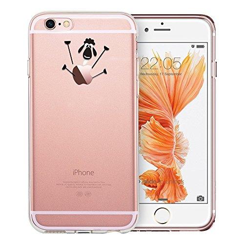 Blitz® Mania Series Transparent Weiche Silikon Schutzhülle TPU Bumper Case iPhone Ballon Mädchen iPhone 7 Schaaf
