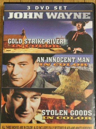 John Wayne 3 DVD Set in Color - Gold Strike River, An Innocent Man, Stolen Goods
