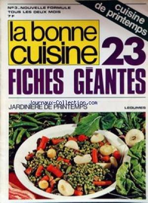 BONNE CUISINE A LA PORTEE DE TOUS (LA) [No 3] - CUISINE DE PRINTEMPS - JARDINIERE DE PRINTEMPS.