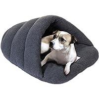 Cama-casa de felpa para mascota, para interiores y exteriores, para perro o