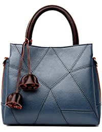 JUMENG Luxury Tote Bag for Women Genuine Leather On Sale Cross Body Purse  Tassel 0b5af3e61d52e
