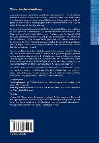 CSR und Mitarbeiterbeteiligung: Die Kapitalbeteiligung im 21. Jahrhundert – Gerechte Teilhabe statt Umverteilung (Management-Reihe Corporate Social Responsibility)