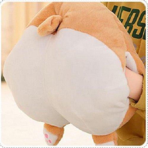 Rainbow Fox® Corgi Hintern Geformt Kissen Warm Hand Abdeckung Runden Ausgestopft Plüsch Weich Spielzeug Puppe Sofa Bett Kissen (38*36CM, hand cover) (Groß Ausgestopfte Hund)