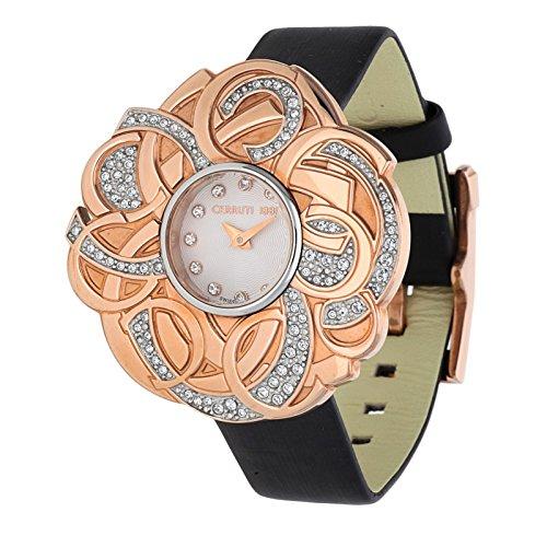 Cerruti Damen Armbanduhr schwarz CRWM041S2120