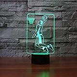 3D Basketball Rebound Dunk Tischlampe USB Touch Button LED Nachtlicht 7 Farben Ändern Stimmung Leuchte Sport Fans Geschenke