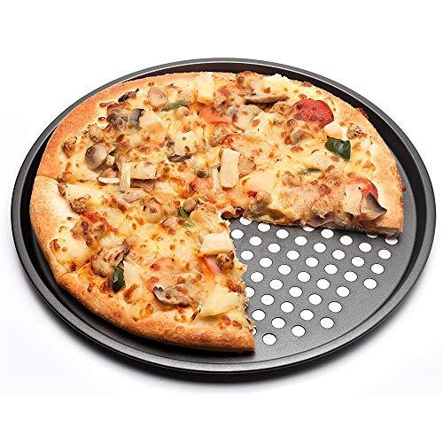 Carbon Steel Nonstick Pizza Back Pan Tray 32Cm Pizza Teller Holder Bäckerei Home Küche Backwerkzeuge Zubehör -