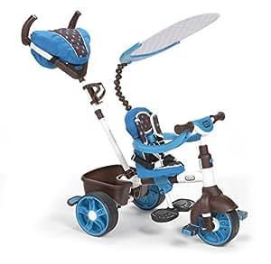 Little Tikes - 634352E4 - Tricycle - 4-en-1 Sports Edition Trike - Bleu/blanc