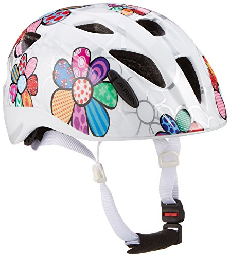 Alpina Kinder Radhelm Ximo Flash Fahrradhelm, White-Flower, 49-54 cm
