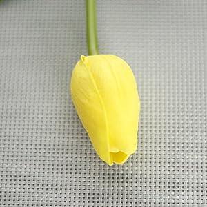 Tulipán artificial de poliuretano con tacto realista Aubess, flores falsas para la decoración del hogar, jardín o bodas