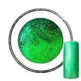 Glitzergel Farbgel Glitter UV-Gel No. 9 Green Apple grün 5ml
