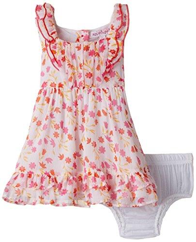 Nauti Nati Baby Girls' Dress (NSS15-112_White_12 - 18 months)