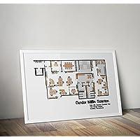 Dunder Mifflin Poster - das Büro Print - Michael Scott - Alternative TV / Filmdrucke in verschiedenen Größen (Rahmen nicht im Lieferumfang enthalten)