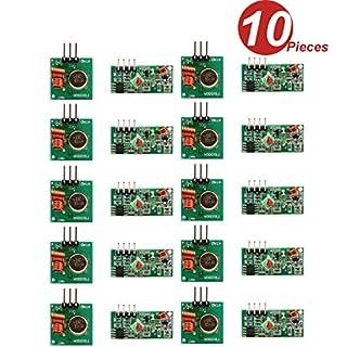 DollaTek 10Pcs 433MHz RF Wireless Transmitter and Receiver Module Kit for Arduino Raspberry Pi