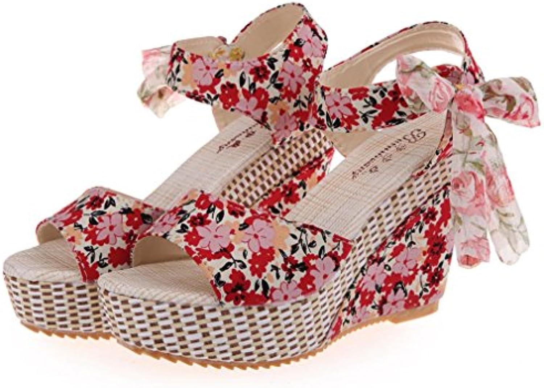 Femmes Pantoufles Chaussures Plates Bohème Été Floral Floral Floral Plates-Formes Imperméables  s Confortable Doux  s...B07CM5HVD9Parent e5e73e