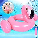 GBD Flamingo Flotadores para Niños Hinchable Anillo de Natación Flotador para bebé Barco Inflable Flotador Verano