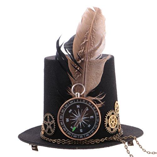 Baoblaze Vintage Viktorianischen Steampunk Mini Top Hut Haarspange -