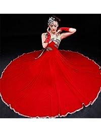 peiwen La Falda Grande roja la Danza del Toro la demostración Moderna de la 2d3836aea2a6
