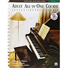 Alfred's Basic Adult All-in-One Course, Bk 3: Lesson * Theory * Technic (Book & CD) (Alfred's Basic Adult Piano Course) by Palmer, Willard A., Manus, Morton, Lethco, Amanda Vick, Gent (2010) Plastic Comb