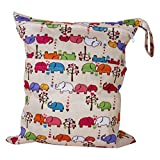 2-Zip Washable Baby Cloth Diaper Nappy Bag Elephant for sale  Delivered anywhere in Ireland