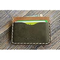 Leder Ausweishülle, Portemonnaie, langlebige Aufbewahrung von Kreditkarten und Banknoten. Geldbörse, Personalisiertes Geschenk mit Prägung, Gravur, Lederbrieftasche Kartenhülle
