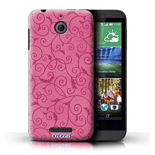 Kobalt® Imprimé Etui / Coque pour HTC Desire 510 / Rose conception / Série Motif de la vigne Rose