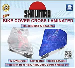 Shalimar Cross Laminated Universal Bike Cover (Blue Color)