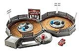 Disney Pixar Cars Mini Racers Crank and Crash Derby Playset with Mini Lightning McQueen Toy Car