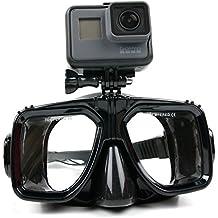 DURAGADGET Gafas de buceo con soporte / montura para Cámara Deportiva MixMart 4K | OTHA 4K | Q6H | ThiEYE T5e | WiMiUS Q2