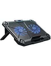Cosmic Byte Comet Laptop Cooling Pad, Dual 120 mm Fans, LED Lights, Fan Speed Adjustment, USB Ports, Support Upto 17