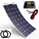 Spark 100W 150W 200W Solar Panel 12V Monokristallines Photovoltaik PV Modul Ladekabel 12Volt Akku in Boot Caravan Wohnmobil Camper Yacht