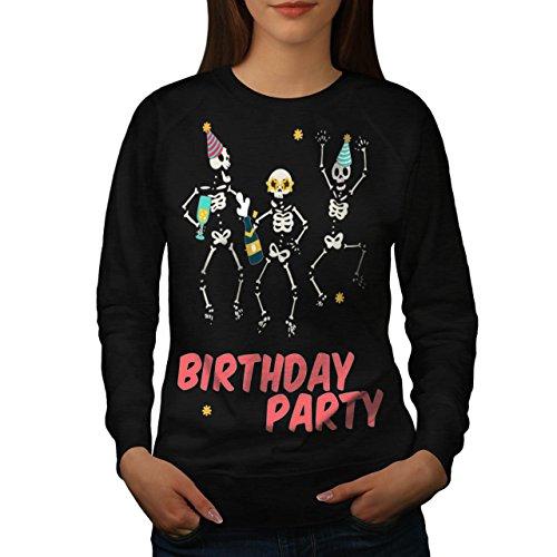 Dansant Skeletons Anniversaire Fête Femme NOUVEAU Noir S-2XL Sweat-Shirt   Wellcoda Noir
