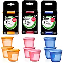 Tommee Tippee Food Pots and Lids (x9)
