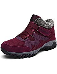 Watkings 2019 New Women Winter Thermal Villi Boots, Fashion High Top Warm Boots Leather Platform Warm Shoes, Lightweight, Breathable, Outdoor Non-Slip