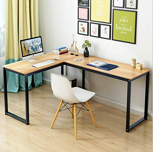 DDGOD L-förmige Home Office Ecke Holz tischplatte,Pc-Laptop-Tisch Schreibtisch Arbeitstisch Office-Tabelle Computertisch Computerschreibtisch-B -