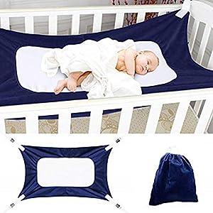 Autbye Baby Hängematte, Neue verbesserte Hängematte für Babybetten, Einstellbares, bequemes, neugeborenes Sicherheitsschlafbett Haltbare Kinderzimmer-Bett-Wiegen, Gewichtslimits bis zu 15 kg/33lb
