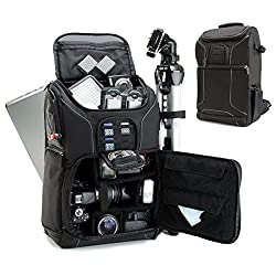 Accessory genie Professional Gear Backpack for Digital SLR Nikon Cameras Laptops and Accessories by USA Gear - Works With Nikon D7200 D810A Coolpix P900 & More