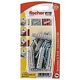 Fischer Spreizdübel SX 8 x 40 SK SB-Karte, 10 x Spanplattenschraube 5 x 60, 049128