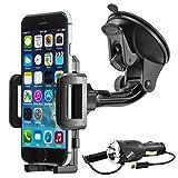 MidGard Universal 360 drehbar KFZ Auto Saugnapfhalterung Handy Smartphone Halterung Halter für Apple iPhone SE, 5, 5S, 6, 6S, 7, 7 Plus
