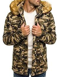 OZONEE Chaqueta de invierno Hombre chaqueta de invierno Parka Camuflaje Estilo militar Ejército Chaqueta Acolchada Chaqueta deportiva Chaqueta con capucha OZONEE 3168
