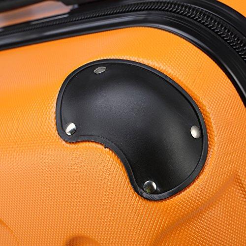 2045 Reisekoffer Koffer Trolley Hartschale XL-L-M in 12 Farben (Orangen, XL) - 5