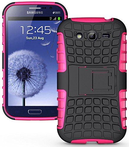 Heartly Flip Kick Stand Hard Dual Armor Hybrid Rugged Bumper Back Case Cover For Samsung Galaxy S3 S 3 i9300 - Pink  available at amazon for Rs.399