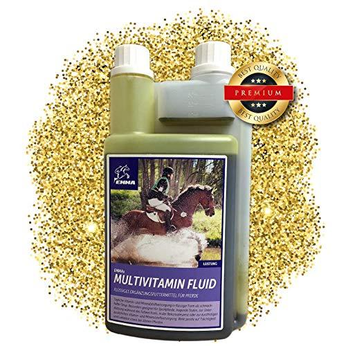 Energie Flüssige Multivitamin (EMMA ♥ Multi-Vitamine für Pferde I Ergänzungsfutter I Mischung mit B-Vitaminen, Zink & Eisen I tragende Stuten, Senioren 1 Liter)