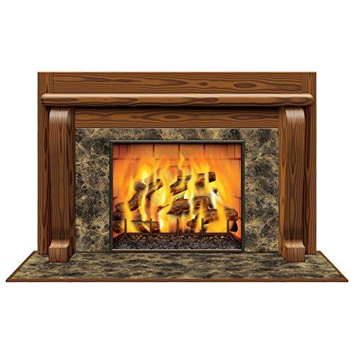 Beistle - Feu ouvert InstaView pour décoration de fête - 96,5 x 157,5 cm